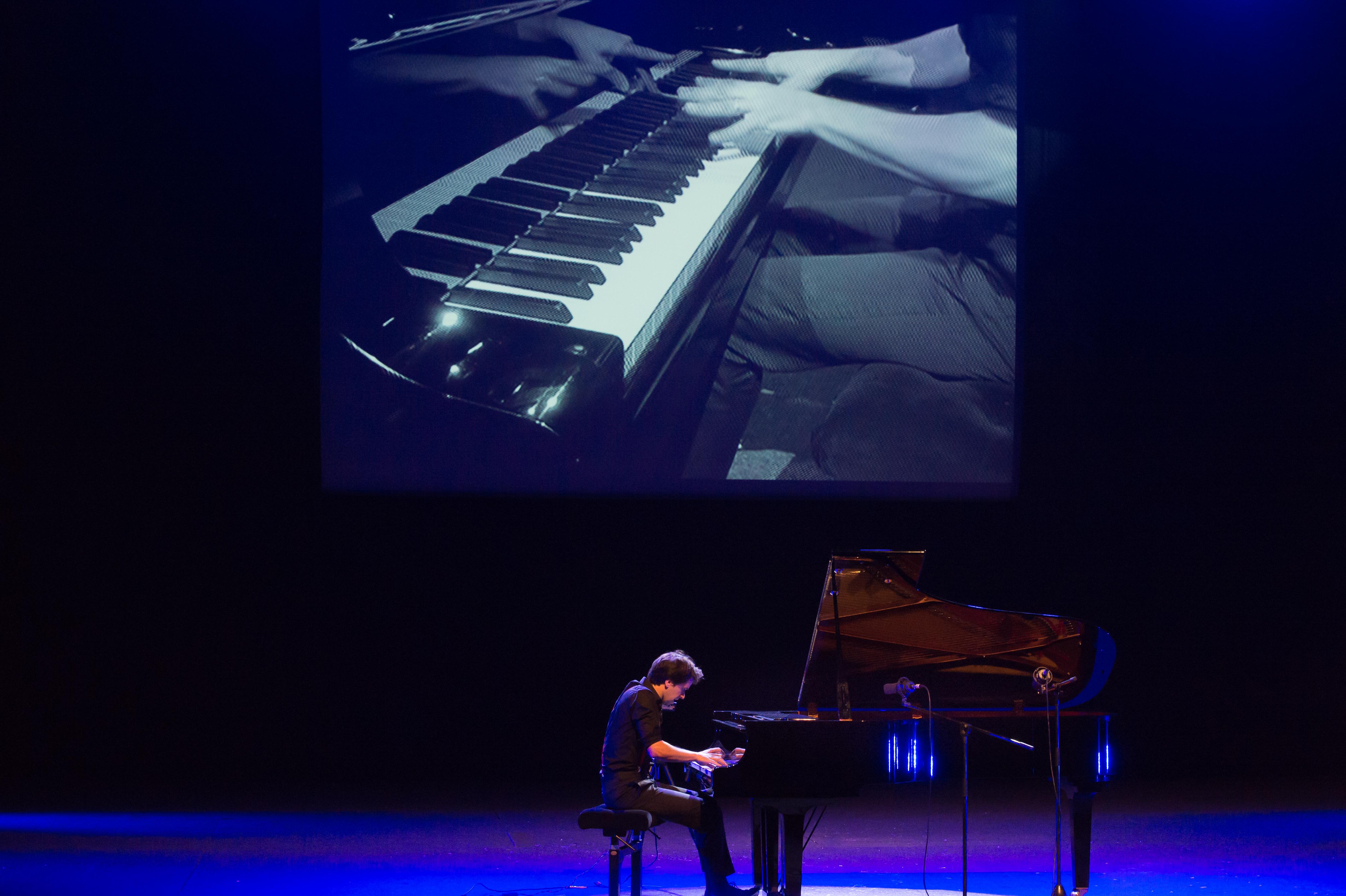 Avec le pianiste Pierre-Yves Plat © Eric Gannat